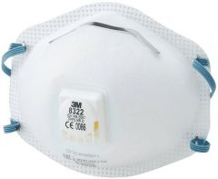 3M Disposable Respirator, FFP2, Valved, 8322