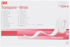 3M Transpore White Tape 12mm (24 rolls)
