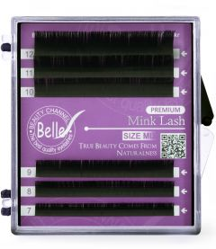 Belle Premium Mink, Volume Eyelash Extensions, C 0.07-Mix 7-12 mm